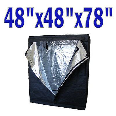 "4x4 Heavy Duty 48""x48""x78"" Hydroponic Canvus Grow Tent 600D Myler Hut Box"