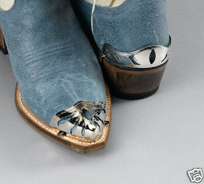 New! Western Cowboy Boot Tips Rand ONLY - Silver