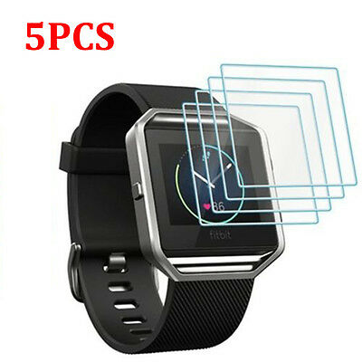 5PCS Premium Tempered Glass Screen Protector Film for Fitbit Blaze Smart Watch