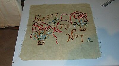 """Vintage Tapestry Forget Me Not 17"""" X 17"""""""