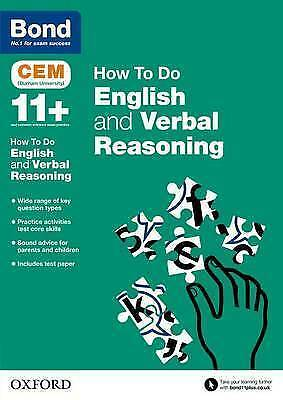 Bond 11+: CEM How to Do: English and Verbal Reasoning, ,