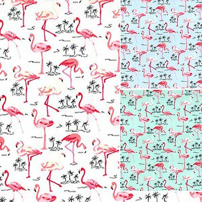 100% Cotton Poplin Flamingo Fabric - 480 - BACK IN STOCK