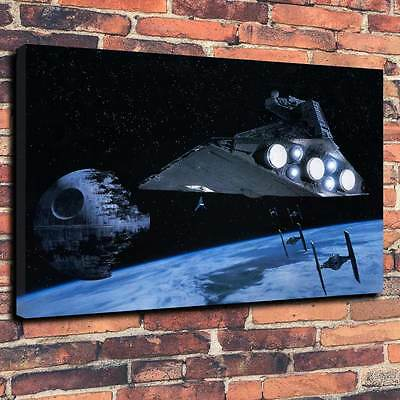 "Star Wars Death Star Canvas Print A1.30""x20""~Deep 30mm Frame Science Fiction V3"