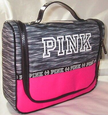 NWT VICTORIA\'S SECRET PINK Zip Hanging Shower Caddy Travel Cosmetic ...