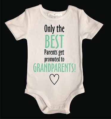 Best Parents Promoted to Grandparents Pregnancy Announcement White
