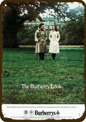 1977 BURBERRYS English Clothes Vintage Look REPLICA METAL SIGN - BURBERRY LOOK