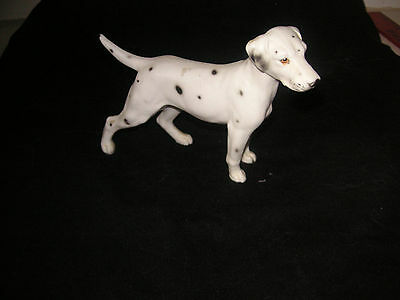 Vintage DALMATION Ceramic DOG FIGURINE unmarked standing spotted