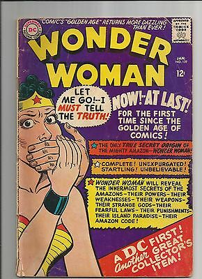 Wonder Woman 159 Vg- Very Good- Ow/white Pages Dc Silver Age Comic 1966