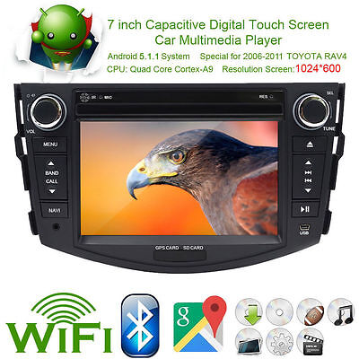 Quad-Core Android 5.1 Double 2Din GPS Autoradio Car Stereo Wifi For Toyota RAV4