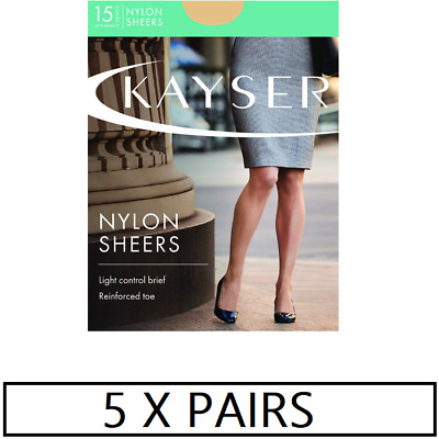 WOMENS 5 PACK KAYSER SHEER NYLON SHEERS Stockings Pantyhose Hosiery Shapewear