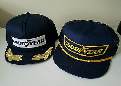 Goodyear Tires Racing Vintage trucker Mechanic snapback hat cap Throwback Lot #1