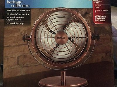 Holmes Heritage Collection 6 Inch Metal Table Fan