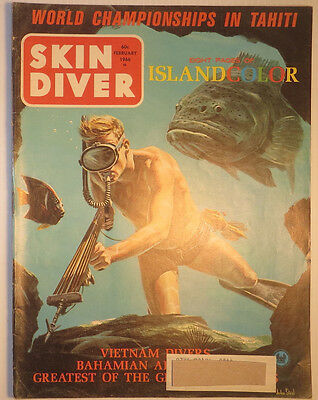 Skin Diver Magazine - Feb 1966 –  VG condition