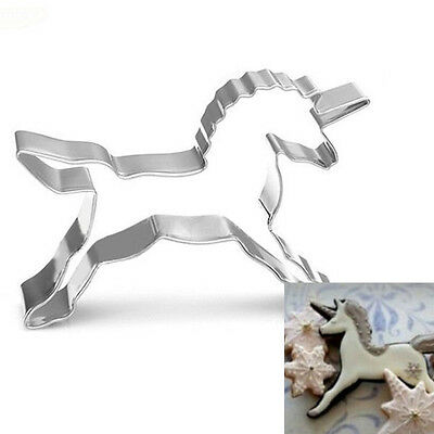 Cute Unicorn Horse Cookies Cutter Mold Cake Decor Pastry Baking Biscuit Mould