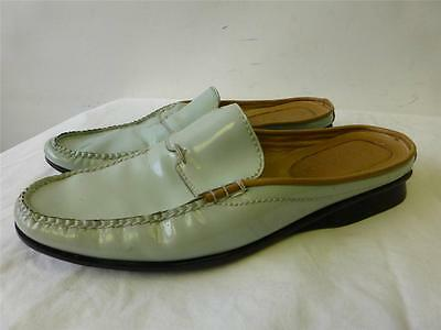 db79cccf3 Womens COLE HAAN Resort turquoise patent leather loafers SLIP SANDALS shoes  6 B