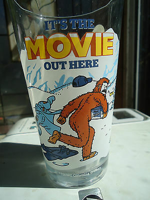 """Kokanee Beer Sasquatch Bigfoot """"It's the Movie out Here"""" glass"""