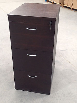 Office 3 Drawer Filing Cabinet - Lockable