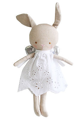 NEW Alimrose Baby Angel Bunny Doll Linen
