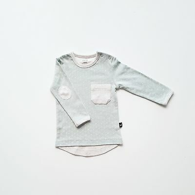 NEW Anarkid Hexagon Contrast Shirt Sea Foam & Melange