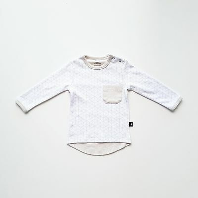 NEW Anarkid Hexagon Contrast Shirt White & Melange