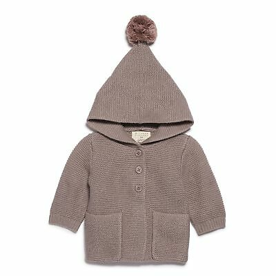 NEW Wilson & Frenchy Smoke Grey Knitted Jacket with Hood