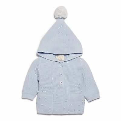 NEW Wilson & Frenchy Cashmere Blue Knitted Jacket with Hood