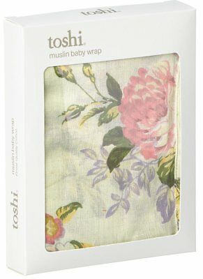 NEW Toshi Muslin Wrap Swaddle Baby Blanket Throw Floral Mint