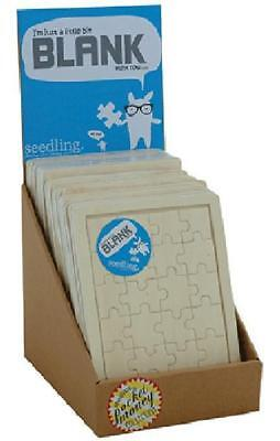 """NEW Seedling """"I'm Just A Little Bit Blank"""" Wooden Puzzle"""