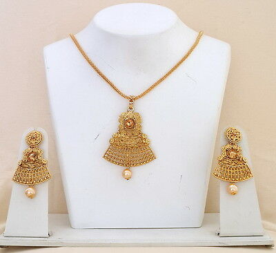 Designer Bollywood Fashion Indian Traditional Ethnic Chain Pendant Jewelry Sets.