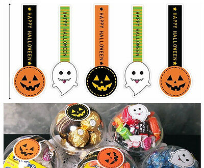 2017 Halloween Seal Sticker Label Cello Cellophane Gift Cone Party Bags Boxes -Q