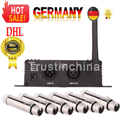 2.4G Wireless DMX 512 Controller Transmitter Receiver + 6 Female Receiver DHL!