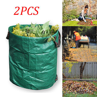 2 x Large Durable Garden Woven Bag Waste Heavy Duty Refuse Rubbish Grass 270L UK