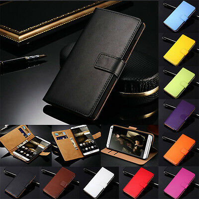 Genuine Leather Wallet Flip Stand Case Phone Cover For Huawei Ascend Honor Model