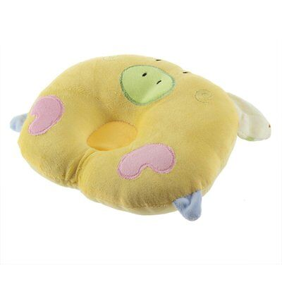 Pig Shaped Infant Toddler Sleeping Support Pillow Prevent Flat Head Yellow 13HE