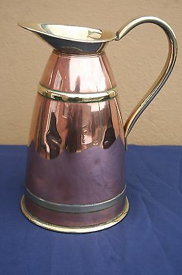 Superb Mid -Victorian Copper And Brass Water Jug
