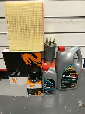 Ford Transit Connect 1.8 Tdci Service Kit Oil Air Fuel Filter & 6L Synthetic Oil