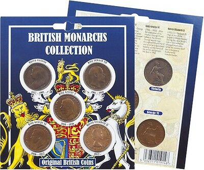 British Monarchs Collection Coin Pack, Victoria to Elizabeth II pennies [BMCP]