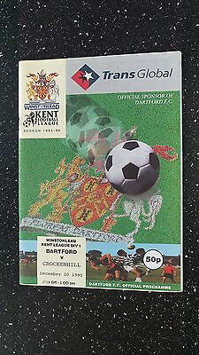 Dartford V Crockenhill 1995-96