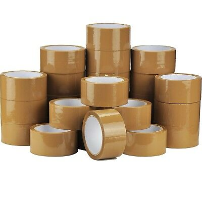 6 ROLLS BROWN BUFF PARCEL PACKING TAPE BOX SEALING PACKAGING SELLOTAPE48MM x66M