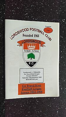 Lordswood V Whitstable 2004-05.