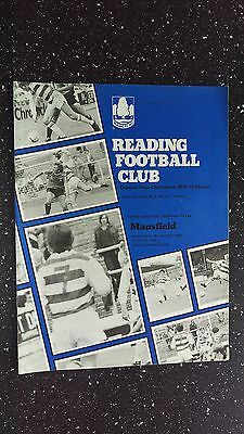 Reading V Mansfield Town 1979-80