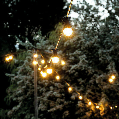 Connectable 10M Outdoor Garden Wedding 4W Frosted Festoon B22 Bulb String Lights