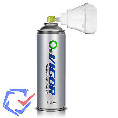 Spray can of 8000 mL containing concentrated Oxygen Oxygen Concentration of 99.4