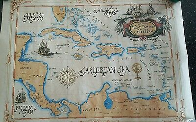 CLASSIC MAPS West Indies/ Caribbean Map + FREE NCL's Carribbean map