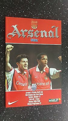 Arsenal V Preston North End 1999-00