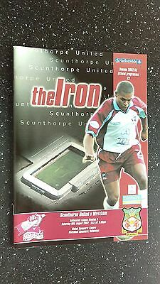 Scunthorpe United V Wrexham 2002-03