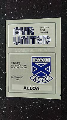 Ayr United V Alloa Athletic 1983-84