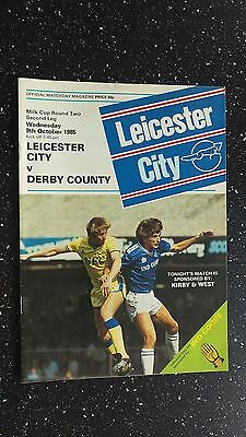 Leicester City V Derby County 1985-86