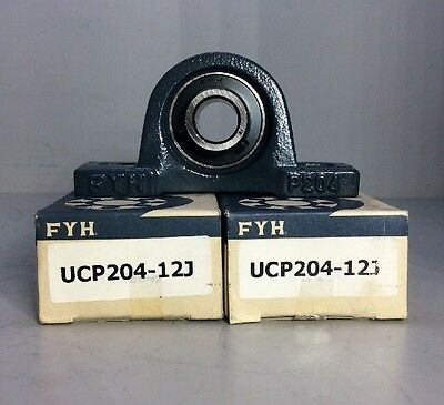 Lot of 2 FYH UCP204-12J Mounted Bearing *NEW*