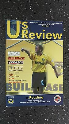 Oxford United V Reading 2003-04